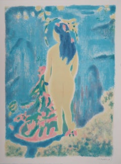 Tribute to Cezanne : The Bather - Original handsigned lithograph