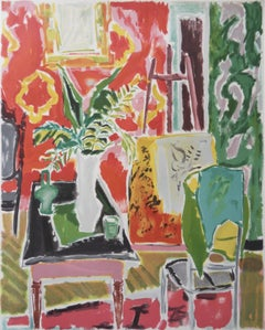 View on the Artist Workshop - Stone lithograph - Mourlot 1982