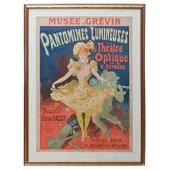 Jules Chéret Musée Grévin Pantomimes Lumineuses Théâtre Poster, Circa 1892