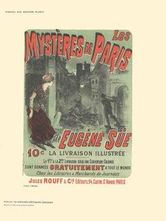 1897 Jules Cheret 'Les Mysteres de Paris par Eugene Sue' Multicolor,Green,Red