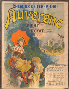 Auvergne, French Travel Poster by Jules Cheret 1892