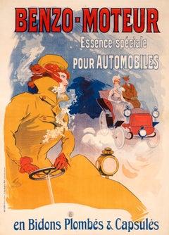 """Benzo Moteur"" Original Vintage Gasoline Poster by Jules Cheret"