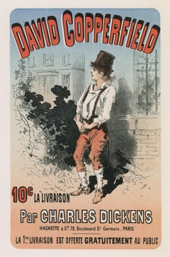 David Copperfield Par Charles Dickens by Jules Chéret, Japon lithograph, 1886