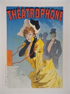 Girl on the Phone (Théâtrophone) - Lithograph (Les Maîtres de l'Affiche), 1895
