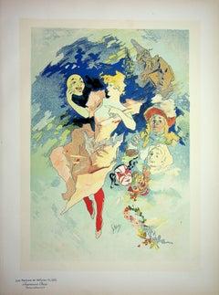La Comédie : Woman with masks - Lithograph (Les Maîtres de l'Affiche), 1900