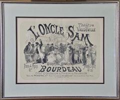 """""""L'Oncle Sam, Theater Vaudeville"""" by Jules Chéret"""