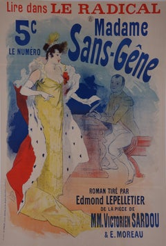 Madame Sans Gene - Original Stone Lithograph - 1894