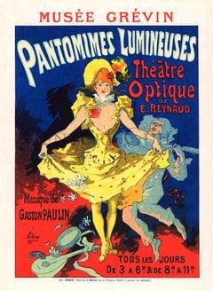 Musée Grévin, Pantomimes Lumineuses by Jules Cheret, Commedia lithograph, 1896