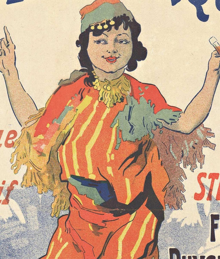 Original Kola Marque, 1895 vintage French liquor poster by Jules Cheret - Print by Jules Chéret