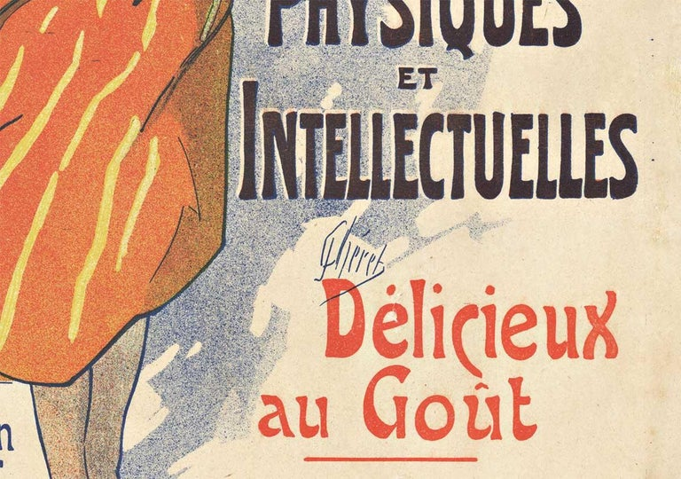 Original Kola Marque, 1895 vintage French liquor poster by Jules Cheret - Art Nouveau Print by Jules Chéret