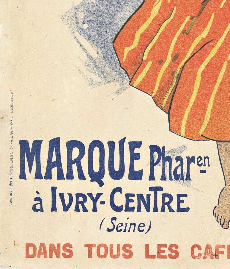 Original Kola Marque, 1895 vintage French liquor poster by Jules Cheret - Beige Print by Jules Chéret