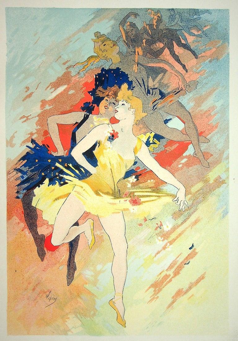 The Dance - Original Lithograph (Les Maîtres de l'Affiche), 1900 - Print by Jules Chéret