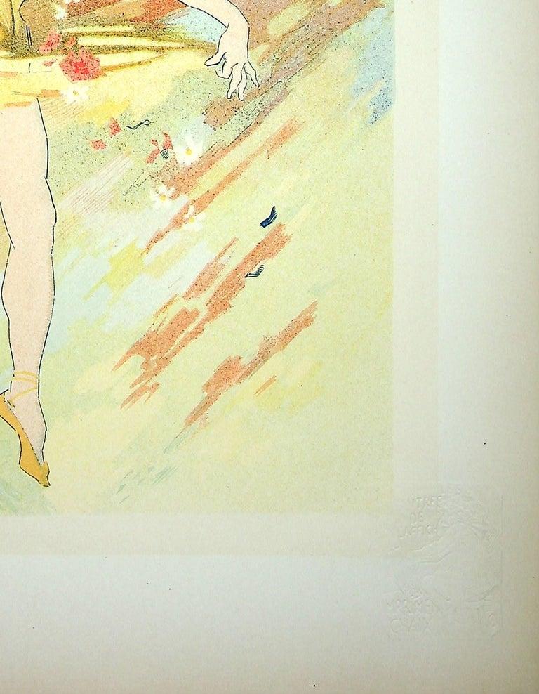 The Dance - Original Lithograph (Les Maîtres de l'Affiche), 1900 - Beige Figurative Print by Jules Chéret
