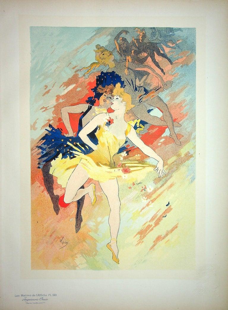 Jules Chéret Figurative Print - The Dance - Original Lithograph (Les Maîtres de l'Affiche), 1900