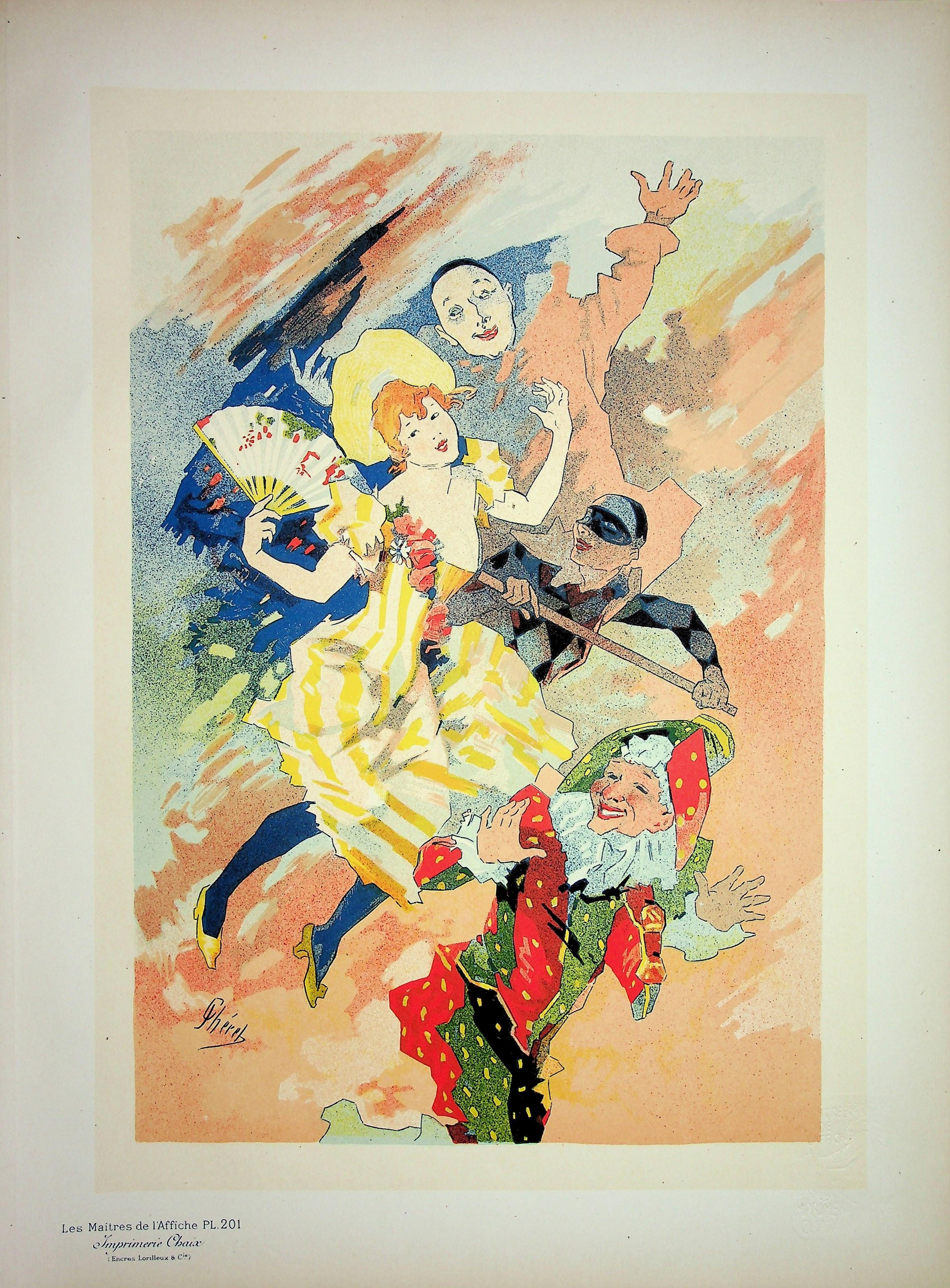 The Pantomime - Original Lithograph (Les Maîtres de l'Affiche), 1900
