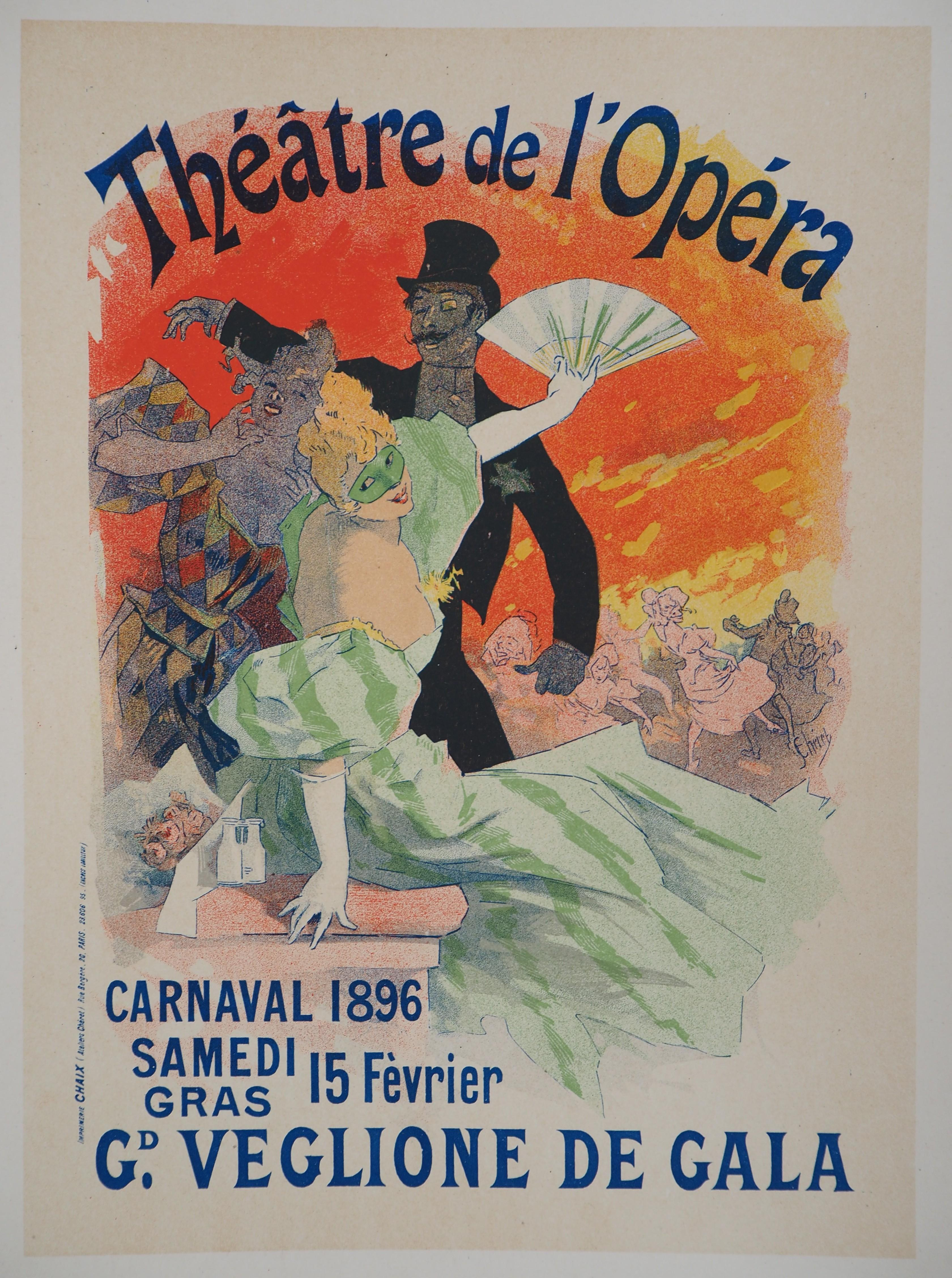 Théâtre de l'Opéra (Carnival) - Lithograph (Les Maîtres de l'Affiche), 1895