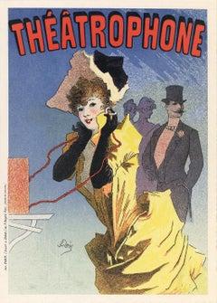 Théâtrophone by Jules Chéret, Belle Epoque lithograph, 1896