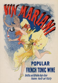 Vin Mariani, Popular French Tonic Wine by Jules Chéret, Japon lithograph, 1896