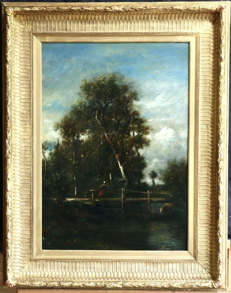 Le Petit Pont - Painting by Jules Dupre