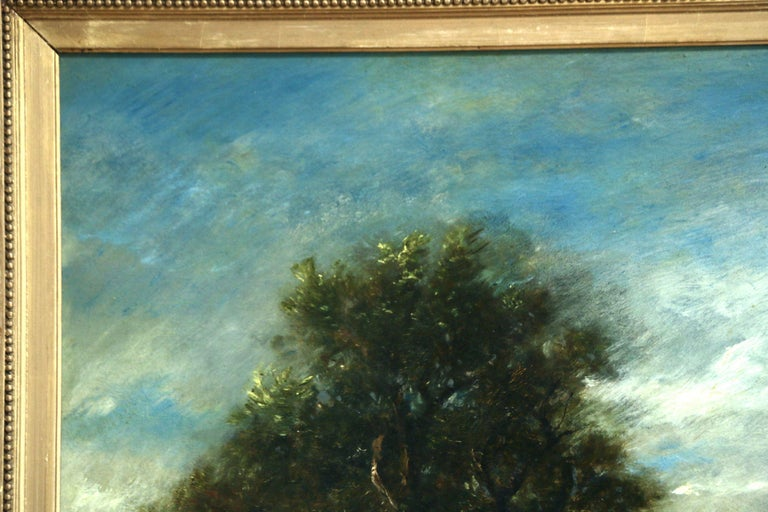 Le Petit Pont - Barbizon School Painting by Jules Dupre