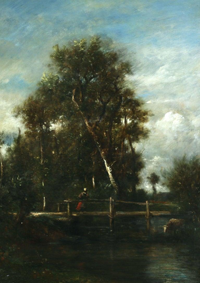 Jules Dupre Landscape Painting - Le Petit Pont