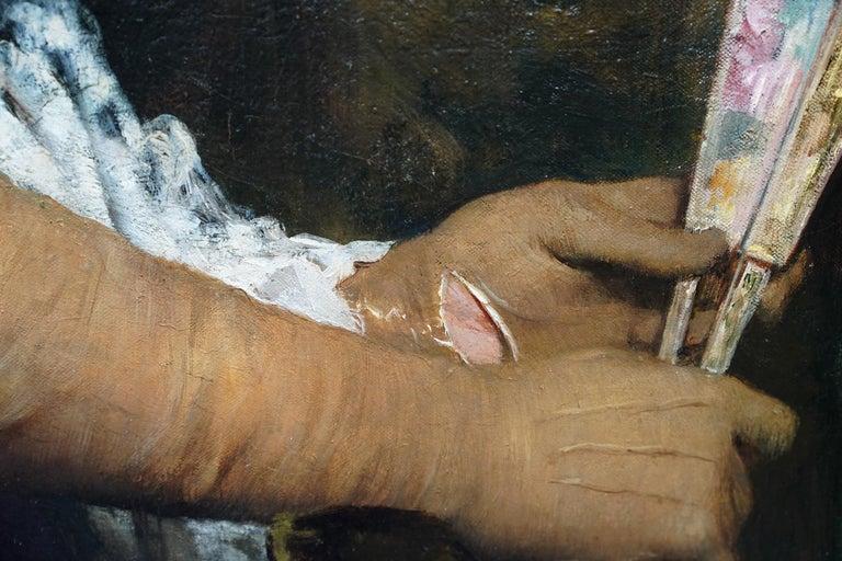 La Marquesa De Escombreras - French 19thC art female portrait oil painting  For Sale 3