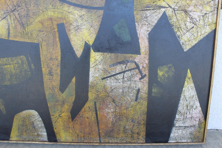 Mid-20th Century Jules Engel Oil Painting (Spaces) 1953 For Sale