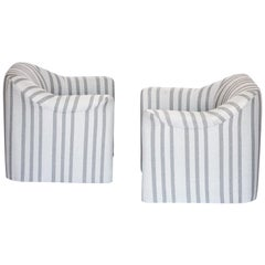 Jules Heumann Lounge Chairs Post-Modern, 1980s