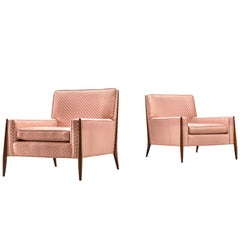Jules Heumann Pair of Pink Lounge Chairs