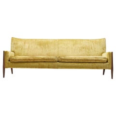 Jules Heumann Sofa in Gold Colored Velvet