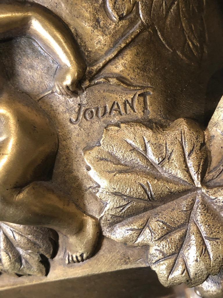 Art Nouveau Jules Jouant French, Doré Bronze Planter For Sale