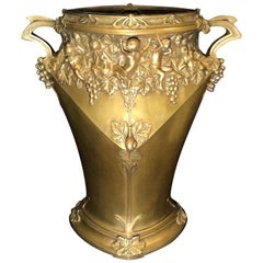 Jules Jouant French, Doré Bronze Planter