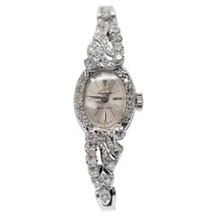 Jules Jurgensen 14K White Gold & Diamond Ladies Dress Watch