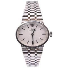 Jules Jurgensen 14 Karat White Gold Oval Watch