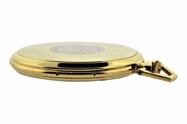 Art Deco Jules Jurgensen Pocket Digital Time Calendar Watch For Sale