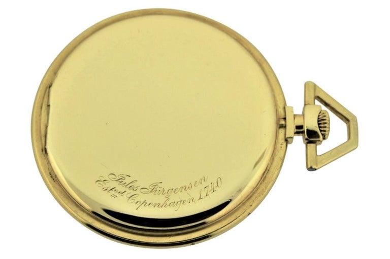 Jules Jurgensen Pocket Digital Time Calendar Watch In Excellent Condition For Sale In Long Beach, CA