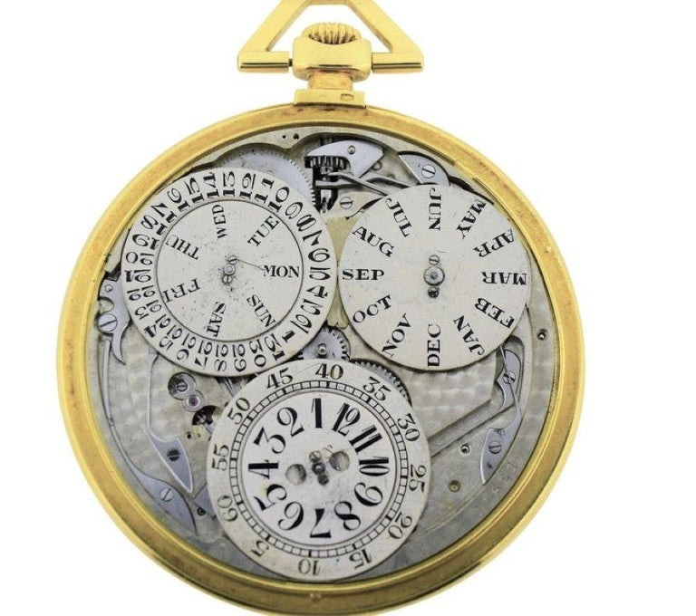 Jules Jurgensen Pocket Digital Time Calendar Watch For Sale 3