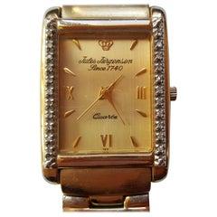 Jules Jurgensen Vintage 1970s Unisex Watch Gold and Diamonds