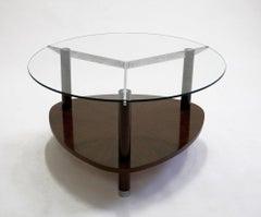 Jules Leleu, Coffee Table with Tripod Base, circa 1930