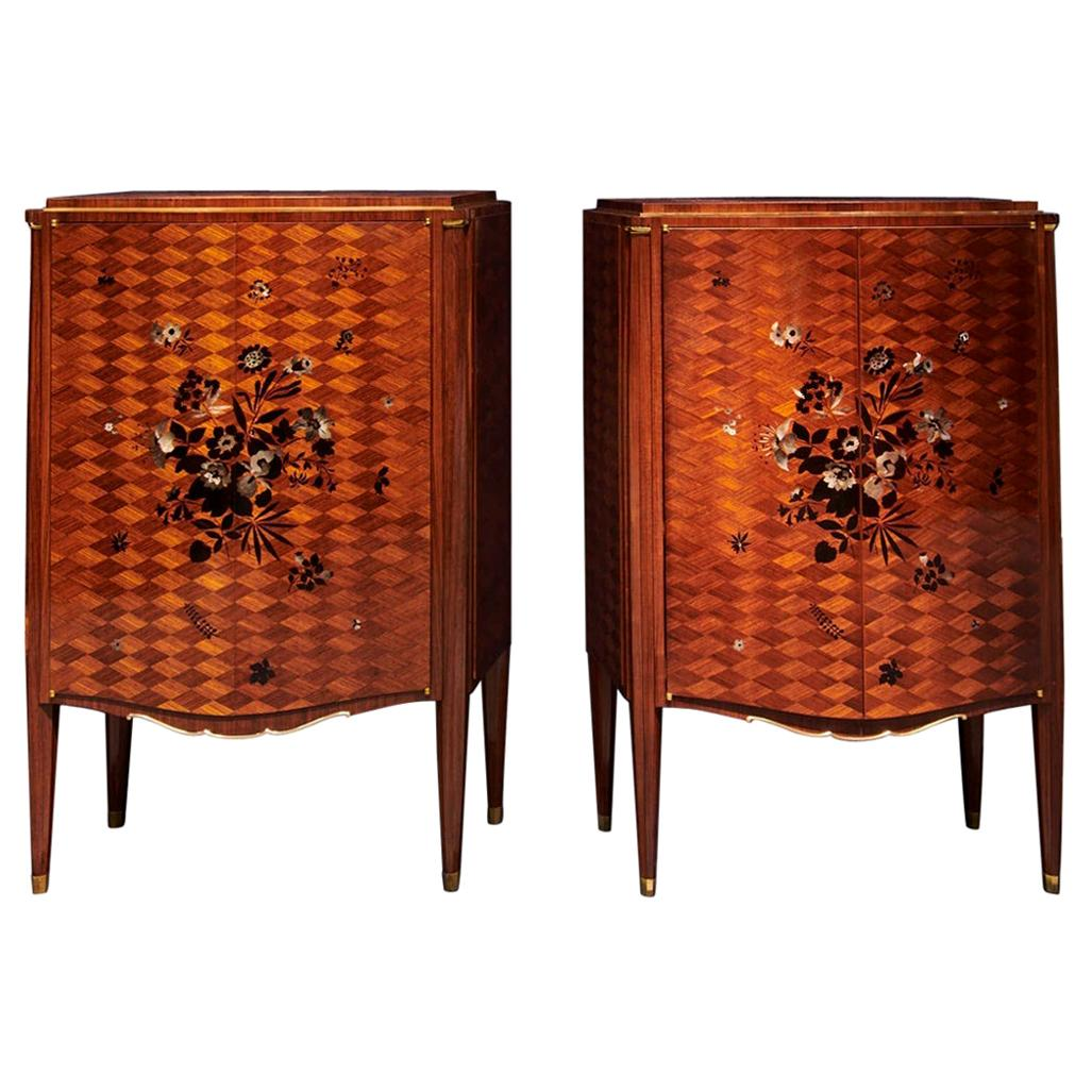 Jules Leleu, a Pair of Two Door Cabinets, France, circa 1948