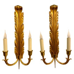 Jules Leleu Acanthes Sconces, 1947