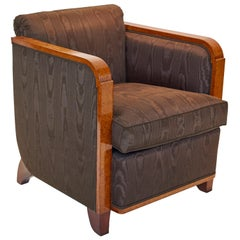 Jules Leleu Amboyna Lounge Chair