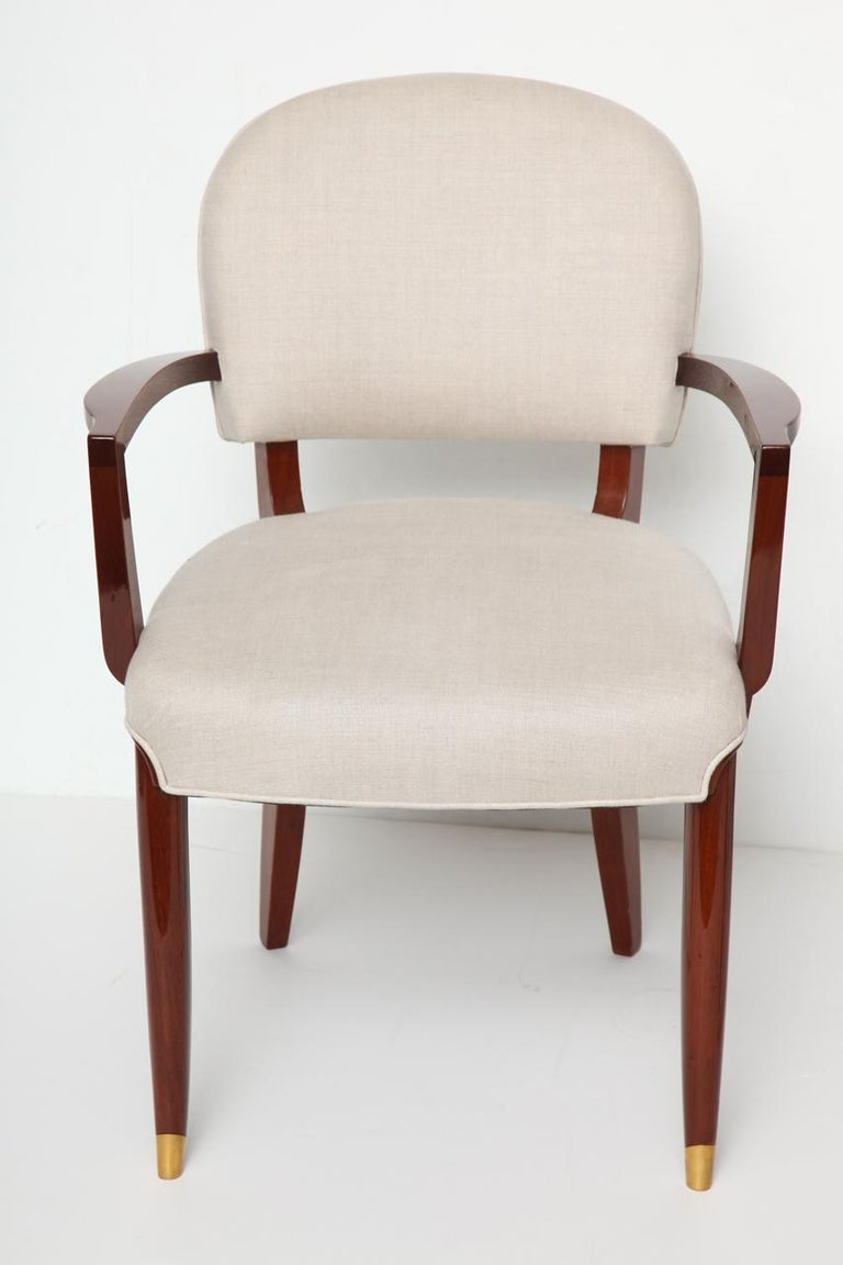 French Jules Leleu, Art Deco Armchair, France, circa 1936 For Sale