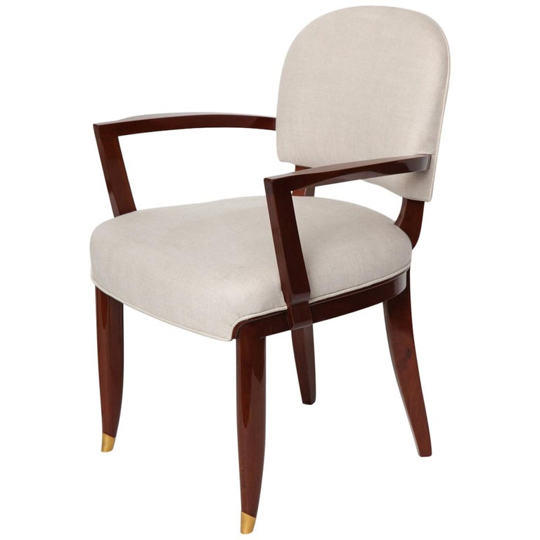 Jules Leleu, Art Deco Armchair, France, circa 1936 For Sale