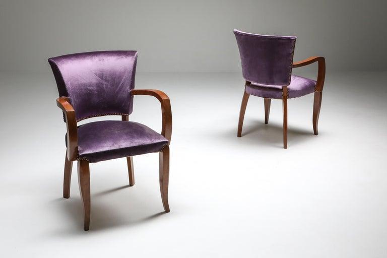 Belgian Jules Leleu Art Deco Armchairs