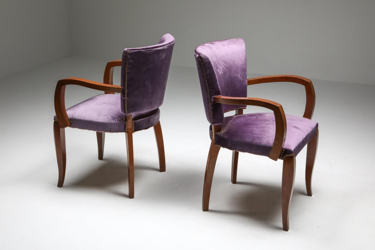 Jules Leleu Art Deco Armchairs In Excellent Condition In Antwerp, BE