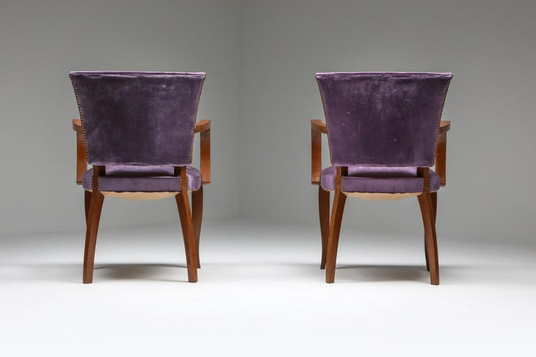Mid-20th Century Jules Leleu Art Deco Armchairs