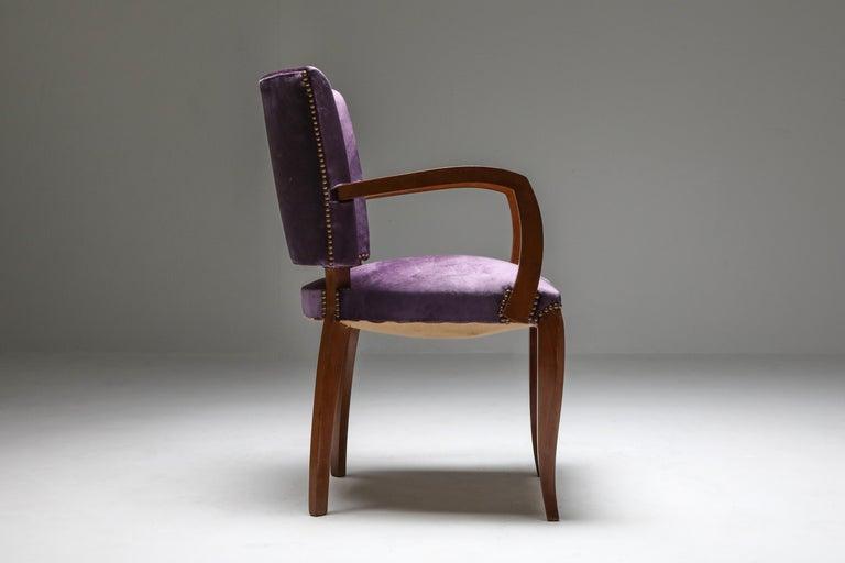 Upholstery Jules Leleu Art Deco Armchairs