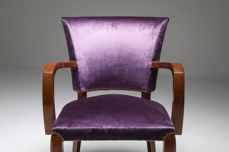 Jules Leleu Art Deco Armchairs 2