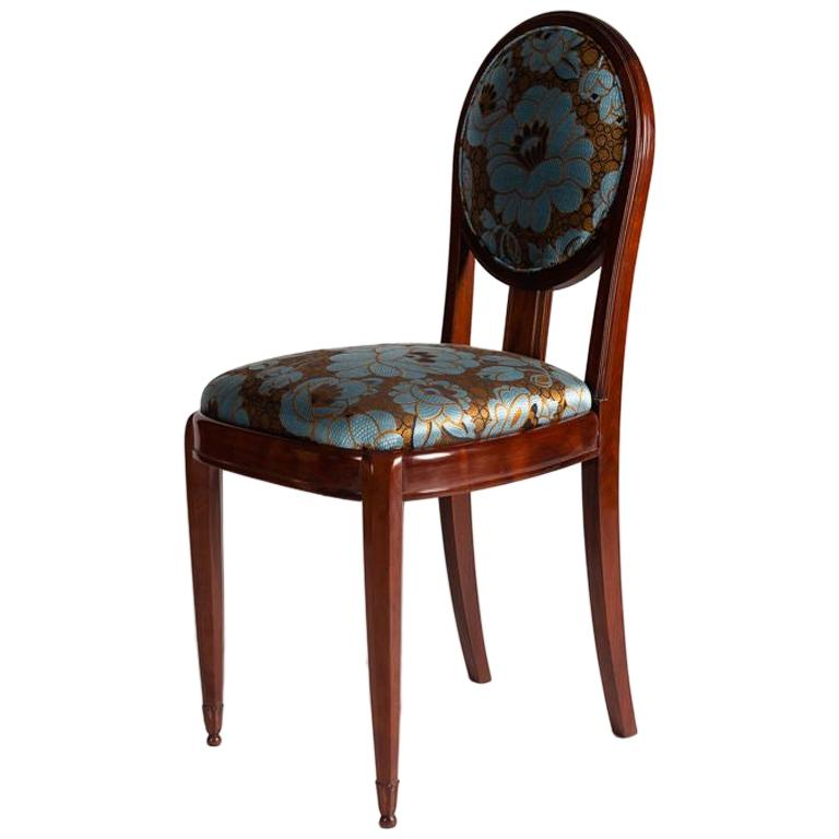 Jules Leleu, Art Deco Side Chair, France, 1925